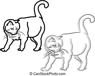 Two Cats Clip Art Vector And Illustration 1709 Two Cats Clipart