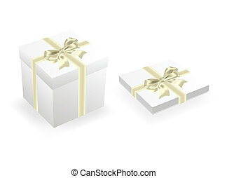 Two celebratory boxes with bows