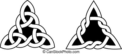 Two Celtic Triangle Knots - Celtic knots used for decoration...