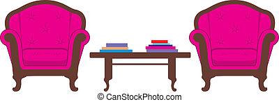 Two chairs and table
