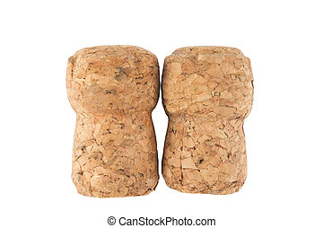 Two champagne corks