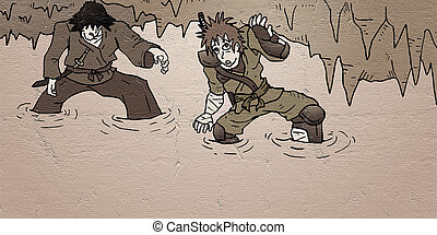 two characters in mystery cavern