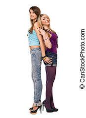Two charming young women