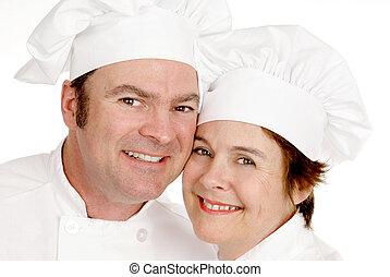 Two Chefs Portrait
