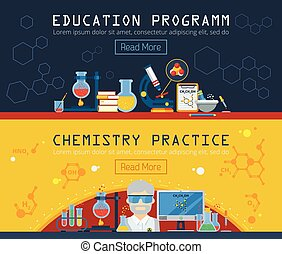 Two Chemistry Horizontal Banners