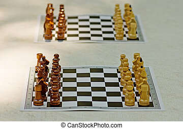 two chessboards