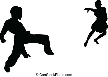 two children, tango dancers passion