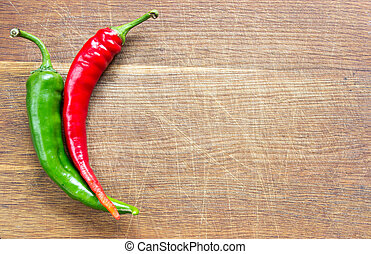 Two chili pepers on board