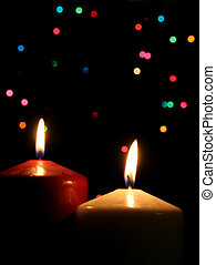 Two Christmas Candle
