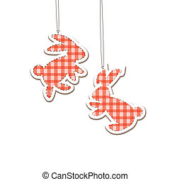 Two Christmass Hare  (rabbit). Vector illustration