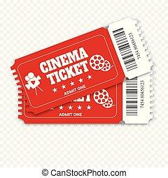 Two cinema vector tickets
