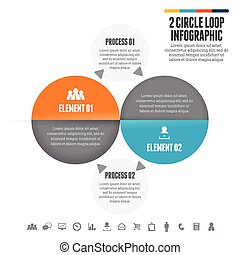 Two Circle Loop Infographic