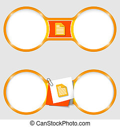 two circles for text with an document icon