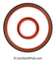 Two circular seal engine, top view - Two circular seal the...