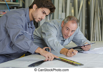 two civil engineers working