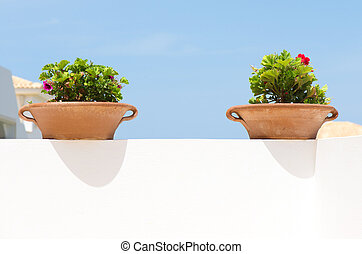 Two clay pots
