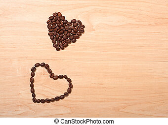 two coffee hearts
