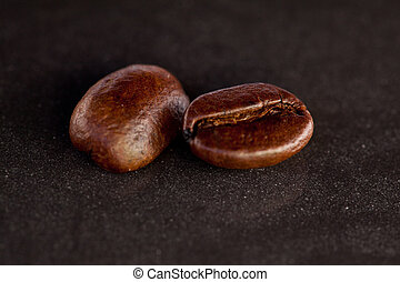 Two coffee seeds