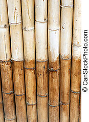 Two color bamboo wall