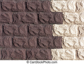 Two color brick stylized wall.