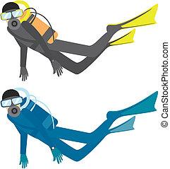 diver - two color diver.