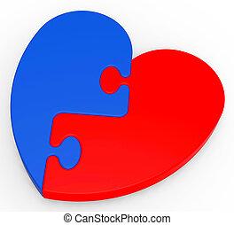 two-colored, serce, zagadka, romans, pokaz