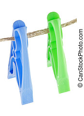 Two colour Clothespins