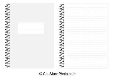 Two column dashed line notebook with side perforation sheets