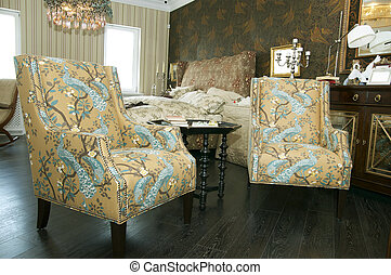 two comfortable lounge chairs