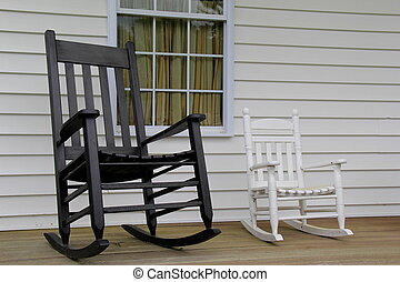 Two comfortable rocking chairs