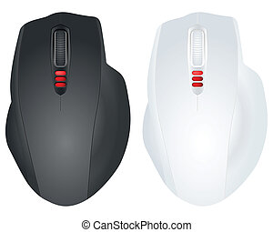 two computer mouse
