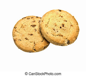 Two Cookies - Two cookies with pecans in them.