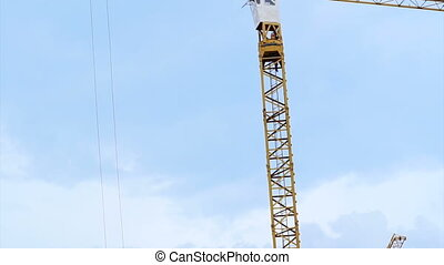 Two crane working construction site