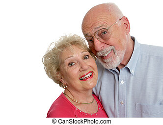 Two Crazy Kids - A happy senior couple who is young at...