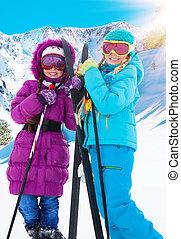 Two crosscountry girls