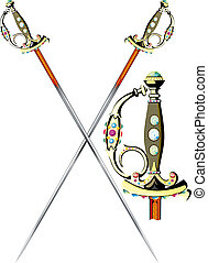 two crossed ceremonial sword