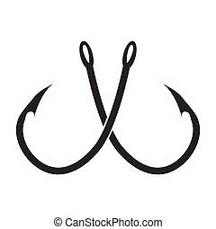 two crossed fishing hook
