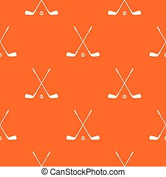 Two crossed golf clubs and ball pattern seamless