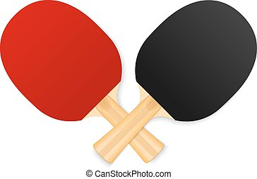 two crossed ping-pong rackets