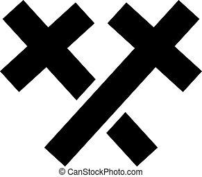 Two crosses crossed