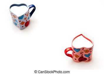two cup, shape of heart