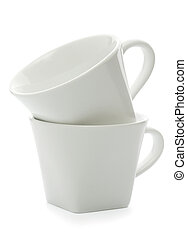two cups, isolated