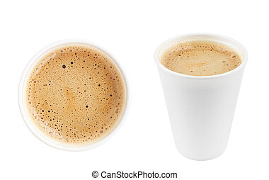 two cups of coffee isolated