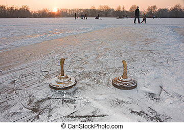 two curling stones