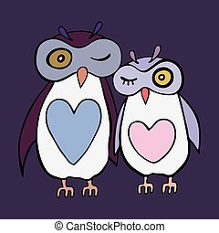 Two cute decorative owls.