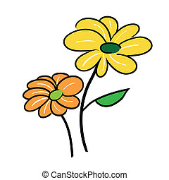 Two Cute Little Flower Icon