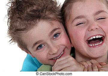 Two cute siblings.
