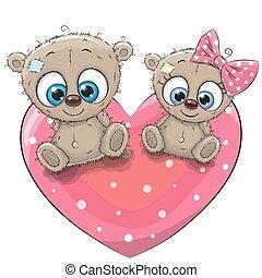 Two cute Teddy Bears