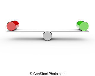 Two cylinders in balance