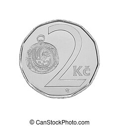 Two Czech Crowns coin
